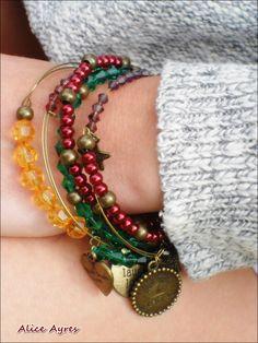 Nouvelle collection t- Boho Chic - Ensemble de bracelet ' Bohemian Rapsody' : Bracelet par alice-ayres