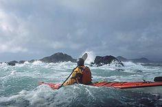 Rough water sea kayaking including open ocean, rock gardens, tidal rapids and sea kayaks in surf. Canoe And Kayak, Kayak Fishing, Trekking, Kayak Adventures, Outdoor Adventures, Ski, Canoes, Kayaks, Kayaking Gear