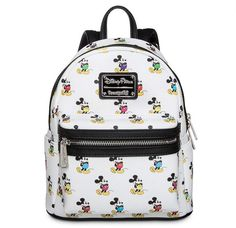 Mickey Mouse's timeless pose remains always in style on this simulated leather mini backpack from Loungefly. Contemporary styling and classic cartoon character art make this a whimsically wonderful carry all for everyone. Cute Mini Backpacks, Kids Backpacks, Stylish Backpacks, Girly Backpacks, Clear Backpacks, Pretty Backpacks, School Backpacks, Disney Parks, Disney Mickey