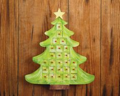 Wood Tree Advent Calendar
