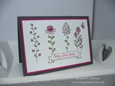 Stampin' Up Karte / Anleitung mit Flowering Fields Stempelset - YouTube