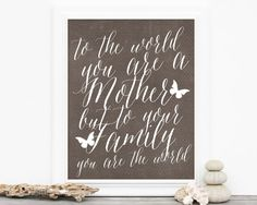 Mothers Day Gift Typography Art Poster  by hairbrainedschemes, $15.00