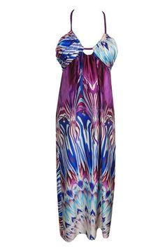 THAT SPECIAL DRESS: Single - Silk halter-neck print maxi dress.