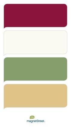Burgundy, Ivory, Sage, and Gold Wedding Color Palette - custom color palette created at MagnetStreet.com