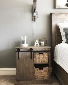 20 DIY Barn Door Hardware, a DIY Sliding Barn Door Nightstand AND a DIY Corbel Sconce Light - Free…""