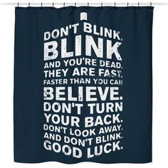 Don't Look Away - Shower Curtain
