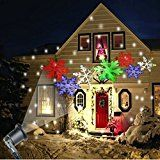 Christmas Projector Lights Indoor Outdoor Automatically LED Moving Snowflakes Spotlight Lamp for Patio Lawn... christmas deals week