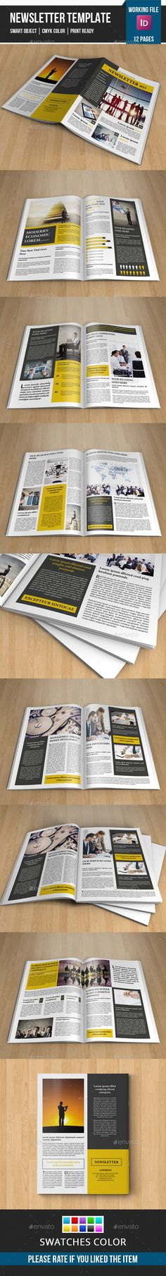 Corporate Newsletter-V06 - Newsletters Print Templates