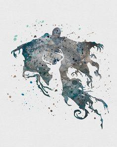 Dementor Harry Potter Watercolor Art