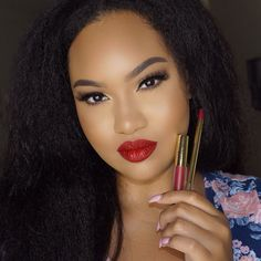 You guys really liked this red lippie! I'm wearing @gerardcosmetics Immortal Hydra matte & Lip Pencil  Shop their sale tab to pick up this pair for $28!  #GCLove #GCPencils