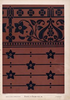 Design for a dado and dado-rail, of gothic spirit, but not with the marked features of any style. [sic]