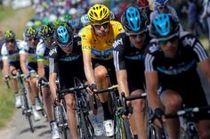 Tour de force: Bradley Wiggins wears the yellow jersey as Tour de France leader