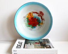 Vintage Chinese Enamel Wash Bowl Bumper Harvest by LAtelierDeNanaH
