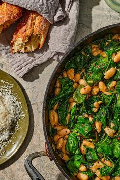 If it's a cold-weather, feel-good meal you want, Pantry Beans and Greens is everything you need. This hearty yet healthy dish is both easy on your Most Popular Recipes, Favorite Recipes, Dinners To Make, Fish Dishes, Main Dishes, White Bean Soup, Healthy Dishes, Salad Recipes, Drink Recipes