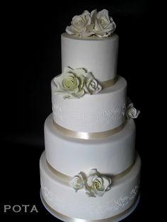 wedding cake angers, gateau de mariage angers by Les Gâteaux de Pota, via Flickr