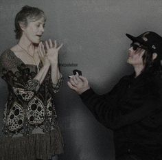 Awe that's why I love them Walking Dead Series, Walking Dead Cast, Daryl And Carol, Z Nation, Melissa Mcbride, Tv Couples, Stuff And Thangs, Best Friends Forever, Norman Reedus