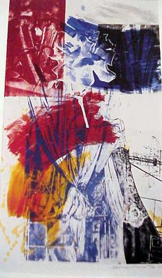 Robert Rauschenberg -  Carnegie Hall, 1990 lithograph 60 x 40 inches