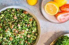 Tabbouleh Salad Green Onions, Cantaloupe, Cucumber, Herbs, Salad, Fruit, Cooking, Book, Recipes