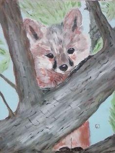 """out on a Limb"" 11 x 14 acrylics on canvas panel"