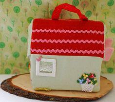 Fabric dollhouse - 4th side by juspan, via Flickr