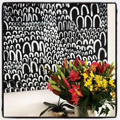 Black + White Painting #interiorartdesign#blackandwhiteart #
