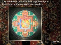 Good for classroom. 3+ min. Stop Motion Timelapse of Tibetan Monks Creating a Sand Mandala at Seret & Sons Gallery