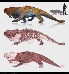 Draco Bullitis II (redeux) by April Prime / Alien Concept Art, Creature Concept Art, Alien Creatures, Mythical Creatures Art, Fantasy Monster, Monster Art, Monster Hunter, Creature Feature, Creature Design