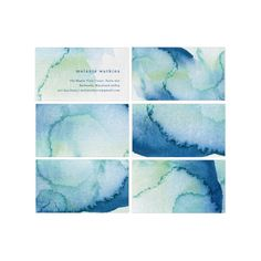 Gorgeous Watercolour Business Cards by Milkmaid Press