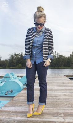 Dotted Denim + Stripes
