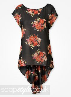 SoapStyle.co.uk - EastEnders - Roxy's Black Floral Top - 11th September