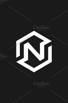 Abstract letter N vector logo icon design modern minimal style illustration. N Letter Design, Lettering Design, Logo Design, Dslr Background Images, Letter N, Great Logos, Minimal Style, Ui Inspiration, Photography Logos