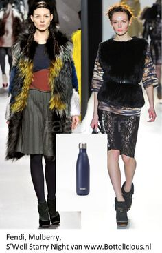 Fendi, Mulberry winter collection 2012 2013, with S'Well Starry Night