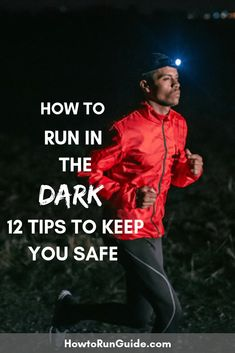 Running in the dark is different than daytime running, but do you know ALL of these 12 important tips? Find out how to run in the dark safely! Group Fitness, Wellness Fitness, Fitness Tips, Health And Wellness, Health Fitness, Marathon Tips, Half Marathon Training, Marathon Running, Race Training