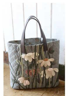 Quilted & Applique shopping tote