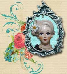 check out site: love the distressed dotties and the subtle scallops Shabby Chic Blog, Blog Backgrounds, Header Image, Vintage Tea, About Me Blog, Layout, Scrapbook, Explore, Check