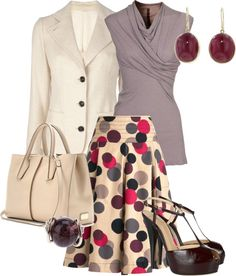 """""""circle skirt for work"""" by meganpearl on Polyvore"""