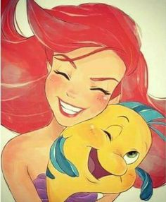 Image uploaded by Find images and videos about disney, ariel and flounder on We Heart It - the app to get lost in what you love. Ariel Disney, Disney Pixar, Film Disney, Disney Fan Art, Disney Animation, Disney And Dreamworks, Disney Cartoons, Disney Girls, Disney Princesses
