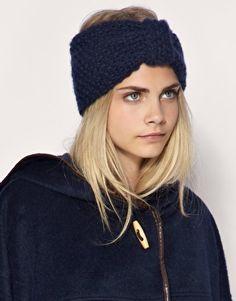 Une alternative au bonnet, le bandeau laine style turban.