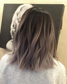 50 Fashionable Gray Ombre Hair Ideas for Women - Balayage Haare - Haarfarben Grey Ombre Hair, Hair Color Dark, Cool Hair Color, Brown Hair Colors, Black Hair, Brown To Grey Hair, Summer Hair Colour, Hair Color Ideas For Dark Hair, Short Hair Colors