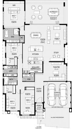 The Alabama Platinum floorplan #displayhomes #perth #homebuilding