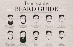 Typography #Beard Styles