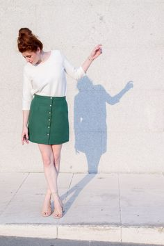 DIY Skirt with Buttons - FREE Sewing Tutorial
