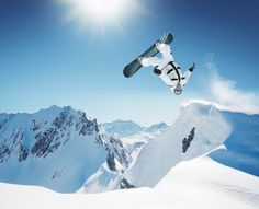 """mountains snowboarding 
