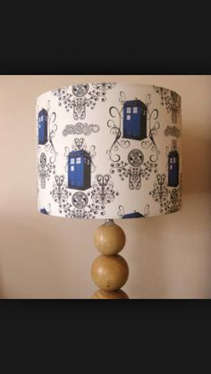 Tardis lamp shade for floor lamp