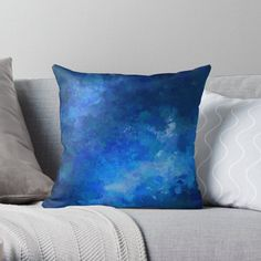 blue ombre watercolor painting abstract design • Millions of unique designs by independent artists. Find your thing. Watercolor Paintings Abstract, Blue Cushions, Blue Ombre, Designer Throw Pillows, Pillow Design, Sell Your Art, Top Artists, Original Art, Prints
