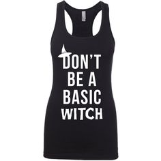 Halloween Halloween Shirt Halloween Costume Witch Fitness Apparel... ($20) ❤ liked on Polyvore featuring black, tanks, tops et women's clothing