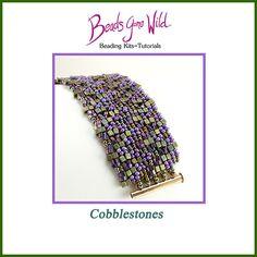 Cobblestones Beading Kit Bead Crochet Patterns, Bead Embroidery Patterns, Beading Patterns Free, Seed Bead Patterns, Beaded Bracelet Patterns, Beading Tutorials, Knitting Patterns Free, Weaving Patterns, Color Patterns