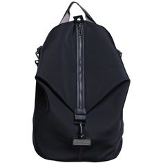 ADIDAS BY STELLA MCCARTNEY Oversize Studio Backpack (225 AUD) ❤ liked on Polyvore featuring bags, backpacks, black, knapsack bags, logo bags, rucksack bag, black backpack and adidas bag