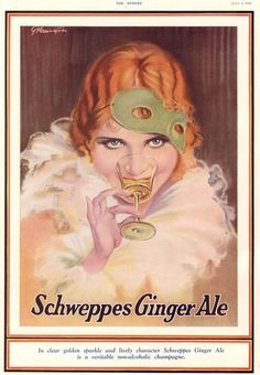Sweeppes Ginger Ale advertising 1930s
