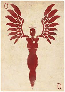 Queen of Hearts card design by Felix Blommestijn.
